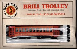 HO Scale Bachmann Brill Trolley painted as South Shore in Joliet, Illinois
