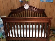 Crib and changing table in Okinawa, Japan