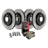 HONDA ACCORD CL7 / CL9 SLOTTED HIGH PERFORMANCE ROTOR SET/brake pads, new; in Okinawa, Japan