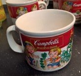 Campbell Soup Mug Handing the Girl a carrot Year 1993 in Ramstein, Germany