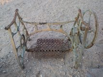 antique treadle sewing machine base in Barstow, California