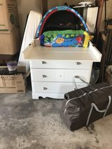 White baby dresser/changing table in Fort Carson, Colorado