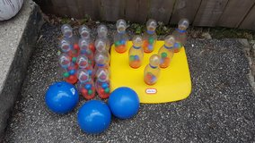 Little tikes bowling set with extras in Batavia, Illinois