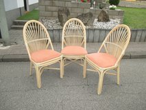 3 sturdy rattan lawn chairs in Ramstein, Germany