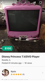 Disney Princess TV/DVD Player in Palatine, Illinois