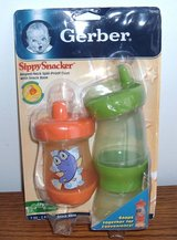 NEW Gerber 2-In-1 2-Pack of SippySnacker Sippy Cup & Snack Holder in Morris, Illinois