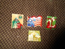 HOUSE Pins By LUCINDA!  Assortment of 4  CUTE!!      House, Christmas Tree, Angel, Rainbow! etc in Bellaire, Texas