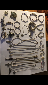Sterling silver jewelry lot #1 in Yorkville, Illinois