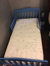 blue toddler bed in Fort Rucker, Alabama