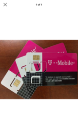 2 new Tmobile sim cards in St. Charles, Illinois