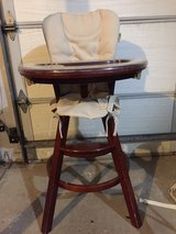 Graco wooden high chair in Palatine, Illinois