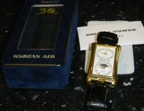 Mens Korean Air Dual Time Wrist Watch w/ Box 30th Anniversary Gift 1999 in Kingwood, Texas