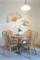 Solid Wood (Butterfly) Dining Room Table with 4 Chairs in Buckley AFB, Colorado