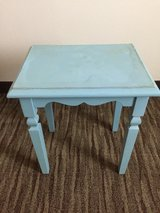 Small blue table in Schofield Barracks, Hawaii