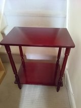 Small Cherry Red Side Table in Lakenheath, UK