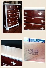 Tall Wood & Paint Accented Dresser in New Lenox, Illinois