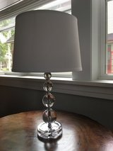 Target acrylic lamp with white shade in Elgin, Illinois