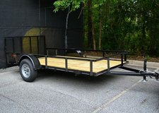 Brand New 6x12 w/ Dovetail premium utility trailer in Warner Robins, Georgia