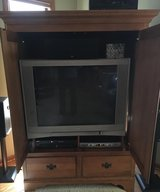 Entertainment cabinet and Older HD Tv in Westmont, Illinois