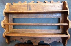 Late 1800s Solid Oak  Kitchen Rack with Towel Hooks in Ramstein, Germany