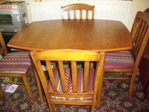 4ft extending table and 4 chairs in Lakenheath, UK