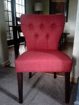 Two beautiful reddish    or rust color chairs in Naperville, Illinois
