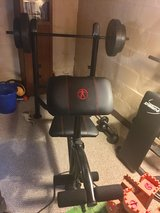 Marcy Weight Bench and 80lb weight set in Bartlett, Illinois