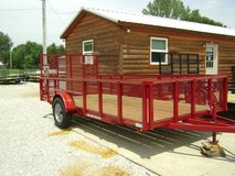 Trailer A-F (2' High Wire Sides) 14' Single Axel in Fort Campbell, Kentucky
