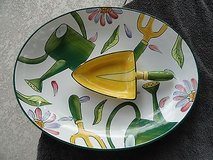 Le Jardin Clay Art 2 Piece Chip And Dip Set serving tray Garden Tools Flowers in Glendale Heights, Illinois