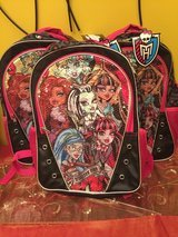 BRAND NEW MONSTER HIGH BACKPACKS.... GREAT GIFTS ....FOR LITTLE GIRLS .... in Naperville, Illinois