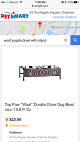 Double diner dog bowl with stand. in Richmond, Virginia