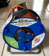 40m Power Cable Reel (220V / German) from Toom in Ramstein, Germany