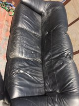 Black leather sofa/couch in 29 Palms, California