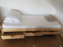Twin Bed With Drawers & Mattress & Sheets Etc... in Wiesbaden, GE