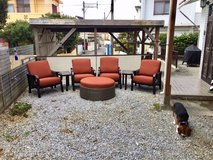 7 piece patio set with fire pit in Okinawa, Japan
