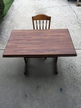 Antique Oak Library Table and Chair in Joliet, Illinois