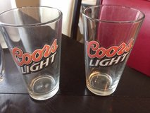 Coors Light and UFC glass collectibles in Houston, Texas