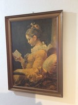 "Vintage Picture ""Girl with Book"" in Baumholder, GE"