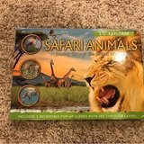 3-d safari animals book in Joliet, Illinois