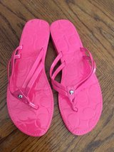 Coach Flip Flops Sz 7 in Camp Lejeune, North Carolina