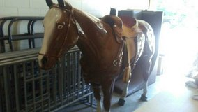 Life size horse statue in Fort Riley, Kansas