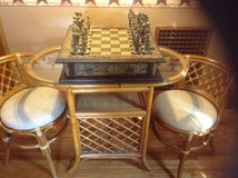 Chess set  with table and chairs in Watertown, New York