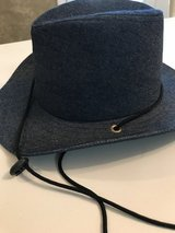Denim hat in Byron, Georgia