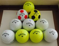 30 Callaway Chrome Soft used golf balls near mint condition in Glendale Heights, Illinois