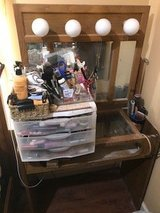 Wood Vanity with mirror and lights in Quantico, Virginia