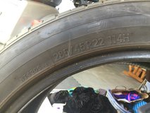 Tires 285/45 R22 144H USED in Camp Pendleton, California