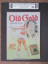 Modern Indian Maiden Lithograph Steel Sign in Lockport, Illinois