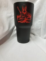 Deadpool 30 oz yeti cup in Fort Benning, Georgia