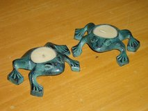 metal frog tealight holders in Naperville, Illinois