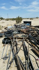 free scrap steel from a gutted house in 29 Palms, California